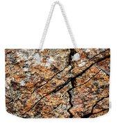 A Crack On A Brown Stone Block Weekender Tote Bag