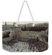 A Crowd Gathers Before The Wailing Wall Weekender Tote Bag