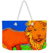 A Curious Lion Weekender Tote Bag
