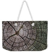 A Cut Above - Patterns Of A Tree Trunk Sliced Across Weekender Tote Bag