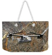 A Cv-22 Osprey Flies Over The Canyons Weekender Tote Bag