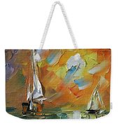 A Date With The Sunset Weekender Tote Bag