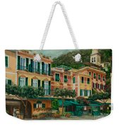 A Day In Portofino Weekender Tote Bag by Charlotte Blanchard
