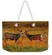 A Deer Kiss Weekender Tote Bag
