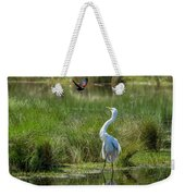 A Disagreement At The Pond Weekender Tote Bag