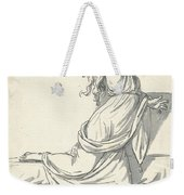 A Distraught Woman With Her Head Thrown Back Weekender Tote Bag
