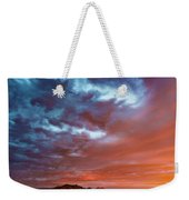 A Divided Sky At Sunset Weekender Tote Bag