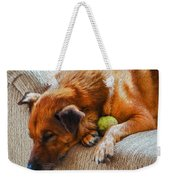 A Dog And His Tennis Ball Weekender Tote Bag