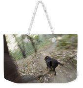 A Dog Backpacking On Pine Ridge Trail Weekender Tote Bag