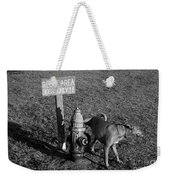 A Dog's Life Weekender Tote Bag