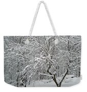 A Dogwood Sleeps While The Snow Falls Weekender Tote Bag