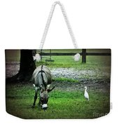 A Donkey And His Bird Weekender Tote Bag