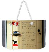 A Door About Family Weekender Tote Bag