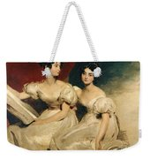 A Double Portrait Of The Fullerton Sisters Weekender Tote Bag by Sir Thomas Lawrence