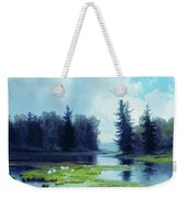 A Dreary Day At The Pond Weekender Tote Bag