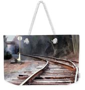 A Dreary Day On The Rail Line Weekender Tote Bag
