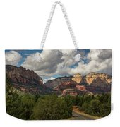 A Drive Through The Red Rocks  Weekender Tote Bag