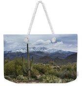 A Dusting Of Snow In The Sonoran Desert  Weekender Tote Bag