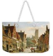 A Dutch Street In Summer Weekender Tote Bag