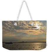 A Evening With Hudson River Weekender Tote Bag