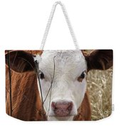 A Face You Can Love - Cow Art #609 Weekender Tote Bag
