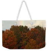 A Fall Rainbow Weekender Tote Bag
