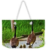 A Family Stroll Weekender Tote Bag