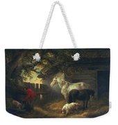 A Farmyard Weekender Tote Bag by George Morland