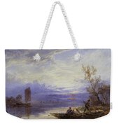 A Ferry At Sunset Weekender Tote Bag