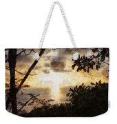 A Fiery Sunset Weekender Tote Bag