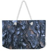 A Fire Scarred Tree Trunk Whose Thick Weekender Tote Bag