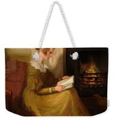 A Fireside Read Weekender Tote Bag