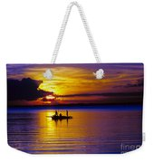 A Fisherman's Sunset  Weekender Tote Bag