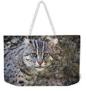 A Fishing Cat Portrait Weekender Tote Bag