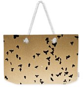 A Flight Of Grackles Circling The Moon Weekender Tote Bag
