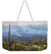 A Foggy Winter Morning  Weekender Tote Bag