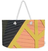 A-frame In Pastel Pink And Harvest Gold Yellow Weekender Tote Bag