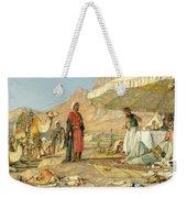 A Frank Encampment In The Desert Of Mount Sinai 1842 Weekender Tote Bag