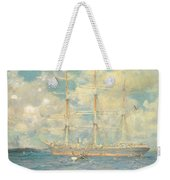 A French Barque In Falmouth Bay Weekender Tote Bag