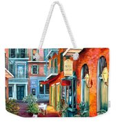 A French Quarter Evening Weekender Tote Bag