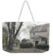 A Frosty Foggy Morning At The Manor House Weekender Tote Bag