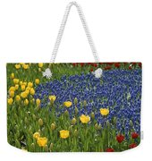 A Garden Of Colorful Tulips And Grape Weekender Tote Bag