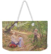 A Garland Of Flowers Weekender Tote Bag by Frigyes Friedrich Miess