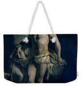 A Gaul And His Daughter Imprisoned In Rome Weekender Tote Bag by Felix-Joseph Barrias