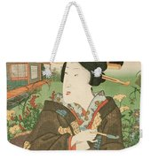 A Geisha With A Pipe Weekender Tote Bag