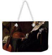 A Gentleman And A Lady With Musical Instruments Weekender Tote Bag