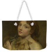 A Girl With A Lamb Weekender Tote Bag