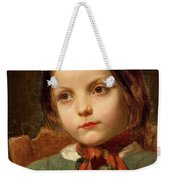 A Girl With A Red Scarf Weekender Tote Bag