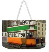 A Glasgow Tram With Figures And Tenement Weekender Tote Bag