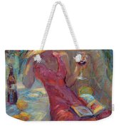 A Glass Of Red Weekender Tote Bag